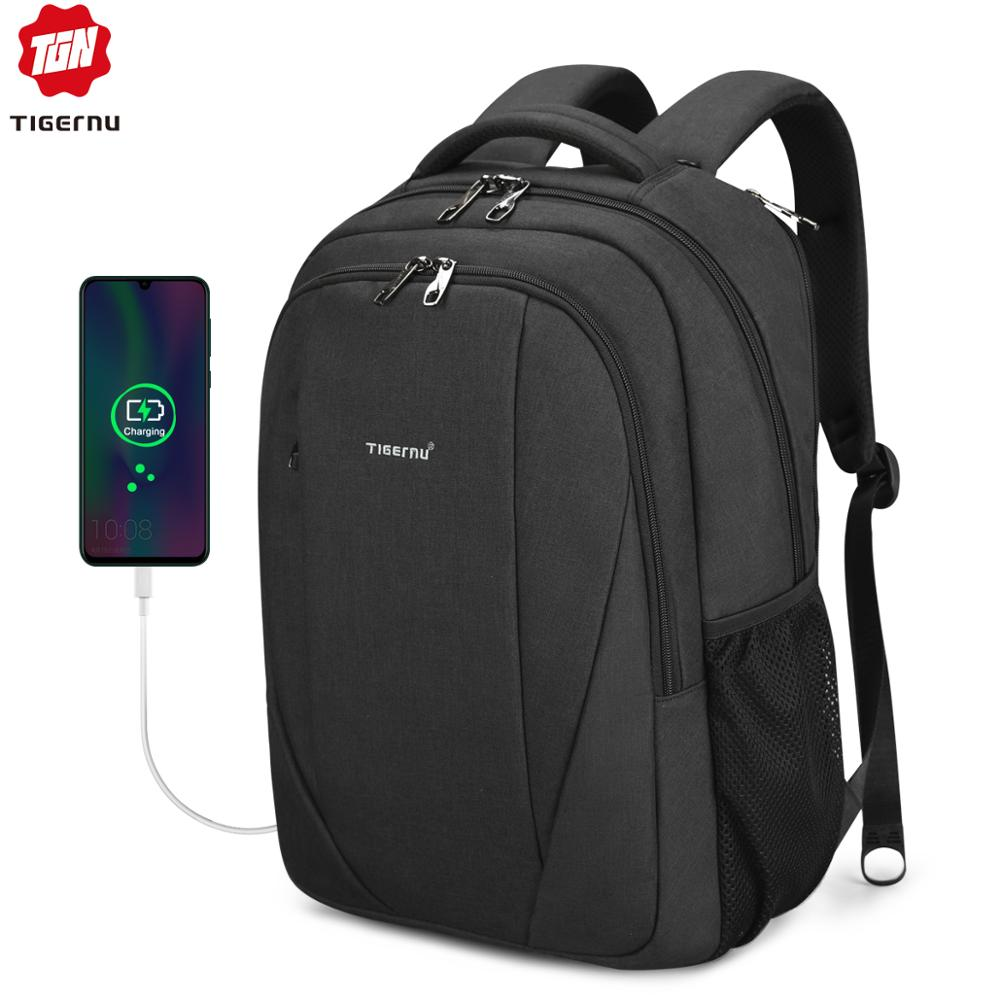 Tigernu Brand Male Mochila 15.6 Inch Laptop Backpack Men Usb Slim Backpacks For Girls Waterproof Backpack Schoolbag College
