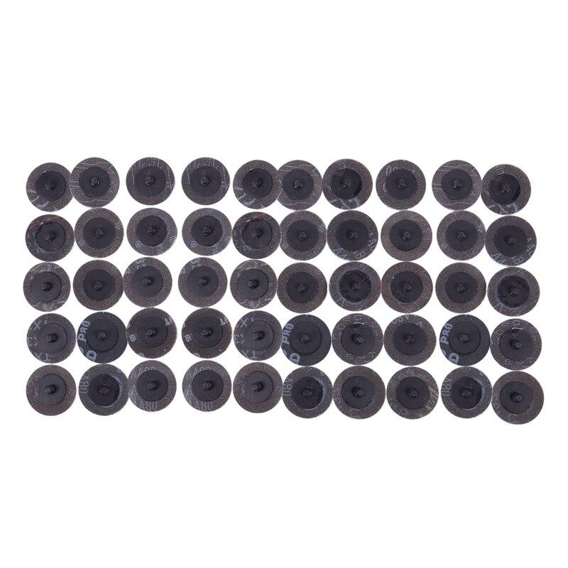 50 PCS 2 Inch /50 Mm 80 Grit Roll Lock Sanding Roloc Disc Abrasive Pads