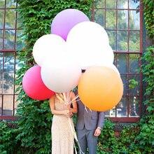36 zoll Super Jumbo Große Runde Latex Ballon Großen Riesen Schöne Hochzeit Bälle Arch Dekoration