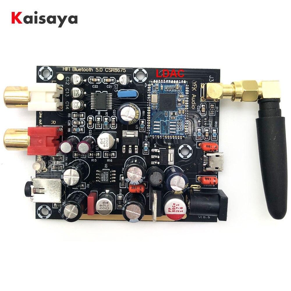 Tüketici Elektroniği'ten Dijital-Analog Dönüştürücü'de Son CSR8675 + PCM5102A LDAC APTX Bluetooth 5.0 kablosuz alıcı desteği 96K 24BIT anten ile T0942 title=