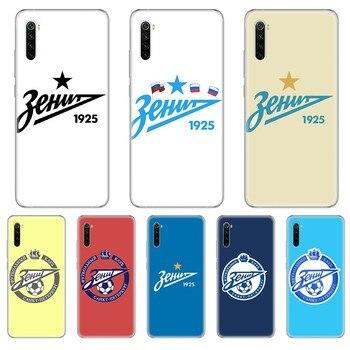 Перейти на Алиэкспресс и купить Футбольный FC Zenit логотип 3D Оболочка Чехол прозрачный чехол для телефона для xiaomi Redmi 3S 4A 5A 6A 5 Plus 4X 7 8 8a CC9 K20 Pro K30