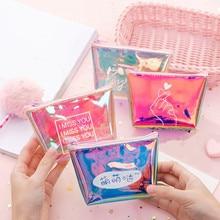 ETya, модный Женский кошелек для монет, маленький мини кошелек из ПВХ на молнии для денег, ключей, наушников, держатель для монет