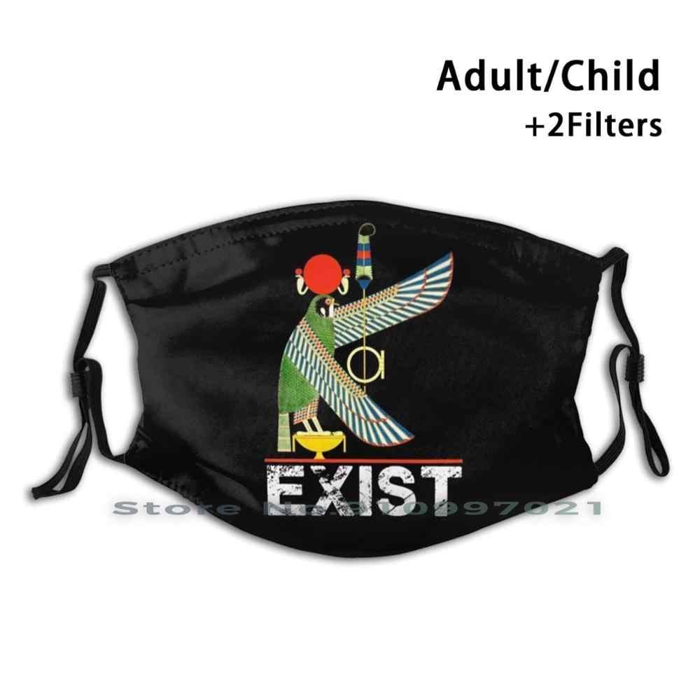 Rah икиру принт Pm2.5 фильтр многоразовые лицевая маска для детей и взрослых египетского древний Бог Древнего Египта ожидание и реальность Маша и Медведь Фараон