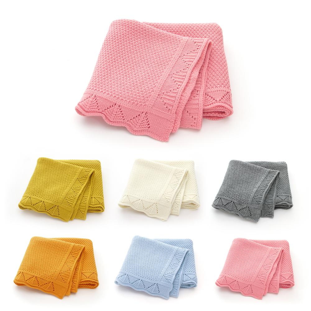 Baby Blankets Knitted Breathable Newborn Bebes Swaddle Wrap Blanket 100*80cm Infant Kids Bebes Sleeping Covers For Stroller Bed