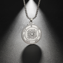 EUEAVAN 10pcs אבץ סגסוגת מפתח של סולומון תליון שרשרת האולטימטיבי סמל של אהבה תכשיטי מתנה עבור גברים נשים