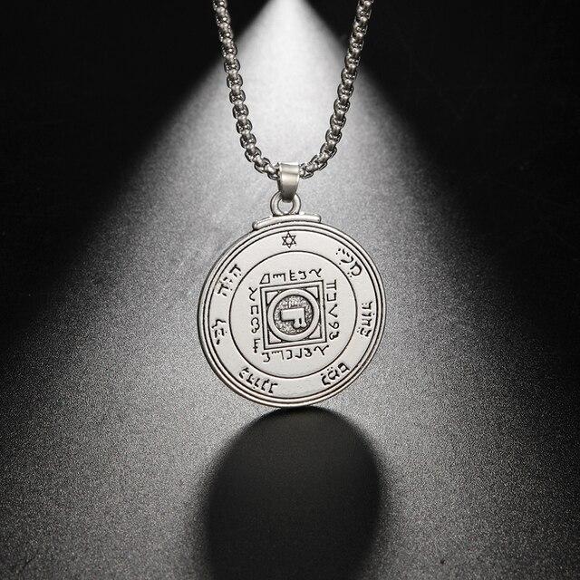 EUEAVAN 10pcs 솔로몬 펜던트 목걸이의 아연 합금 키 남성 여성을위한 사랑의 보석 선물의 궁극적 인 상징