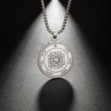 Eueavan 10 pçs liga de zinco chave de salomão pingente colar o símbolo final do amor jóias presente para homens