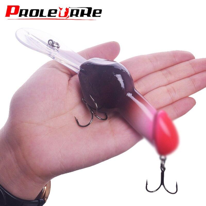 1Pcs Deep Diving Fishing Lure 14cm 27g Dick Rattle Big Minnow Fishing Crankbait Artificial Hard Bait Men Valentine's Gift Tackle