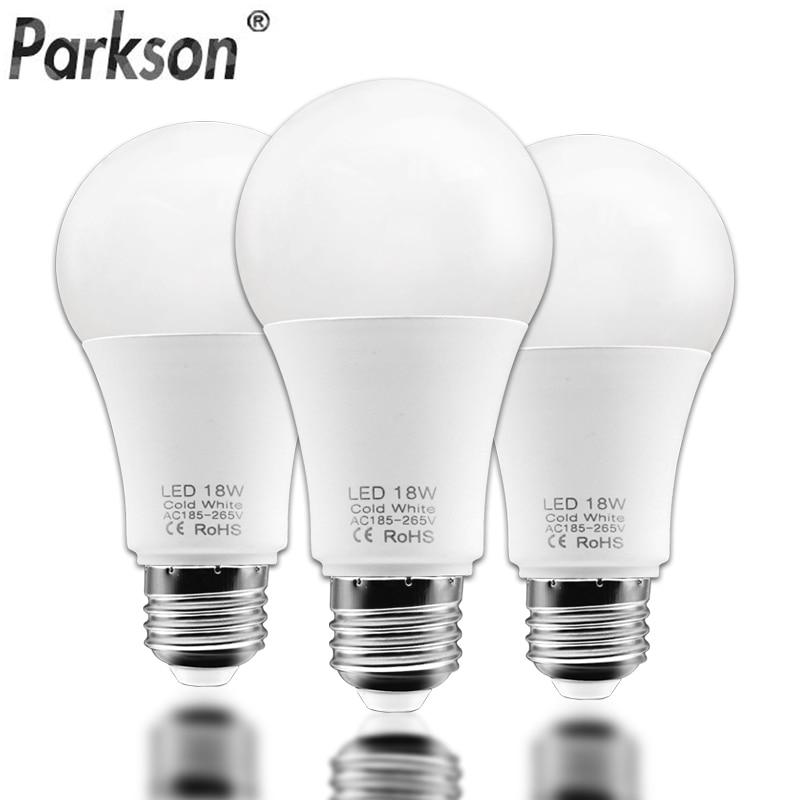 3pcs/lot Lampada E27 LED Light Bulb 18W 15W 12W 9W 6W 220V 240V Ampoule Bombillas LED Lamp Spotlight Led Bulb