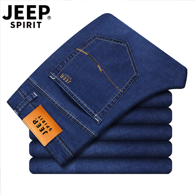 Jeep Jeep Spirit Summer Elasticity Jeans Men's Thin Europe And America Jeans Men'S Wear MEN'S Jeans