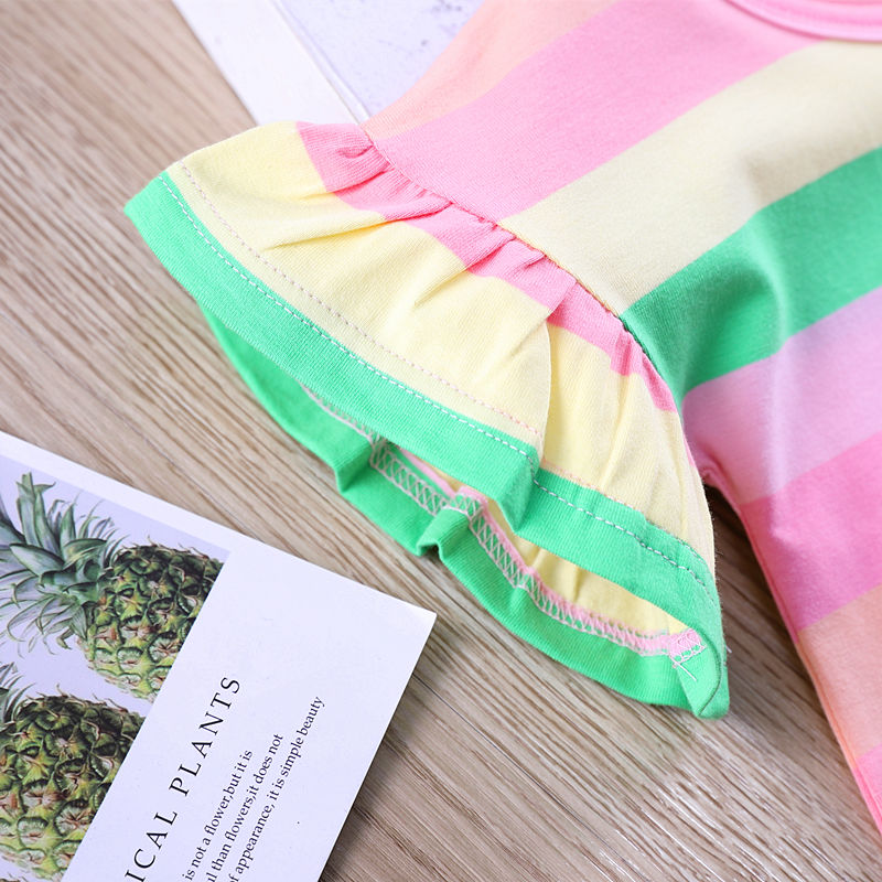 VIDMID Summer Fashion  T-shirt Children Girls Short Sleeves  Tees Baby Kids Cotton Tops For Girls Clothes   1-8Y  P1055 6