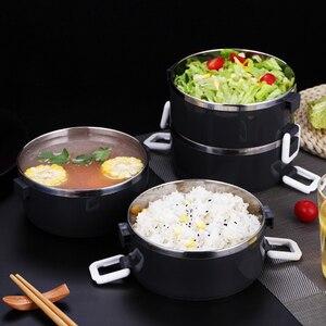 Image 3 - Boîte à déjeuner de conservation de la chaleur dacier inoxydable 1 pièces récipient de nourriture de boîte de Bento daffaires adulte pour lécole portative de pique nique denfants