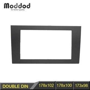 Doble Din Car Radio Fascia para Audi A4 (B6) 2002-2006 A4 (B7) 2002-2007 Seat Exeo 2009 + Stereo Panel Dash Kit de instalación de moldura de CD