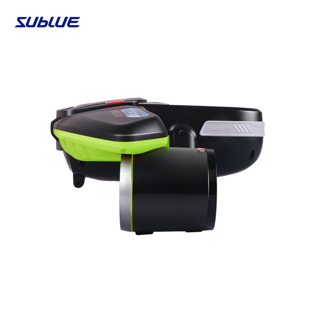 Sublue Seabow Underwater Scooter scuba diving for buzo one-handed option speed up to 2m/s photography platform in piscina green