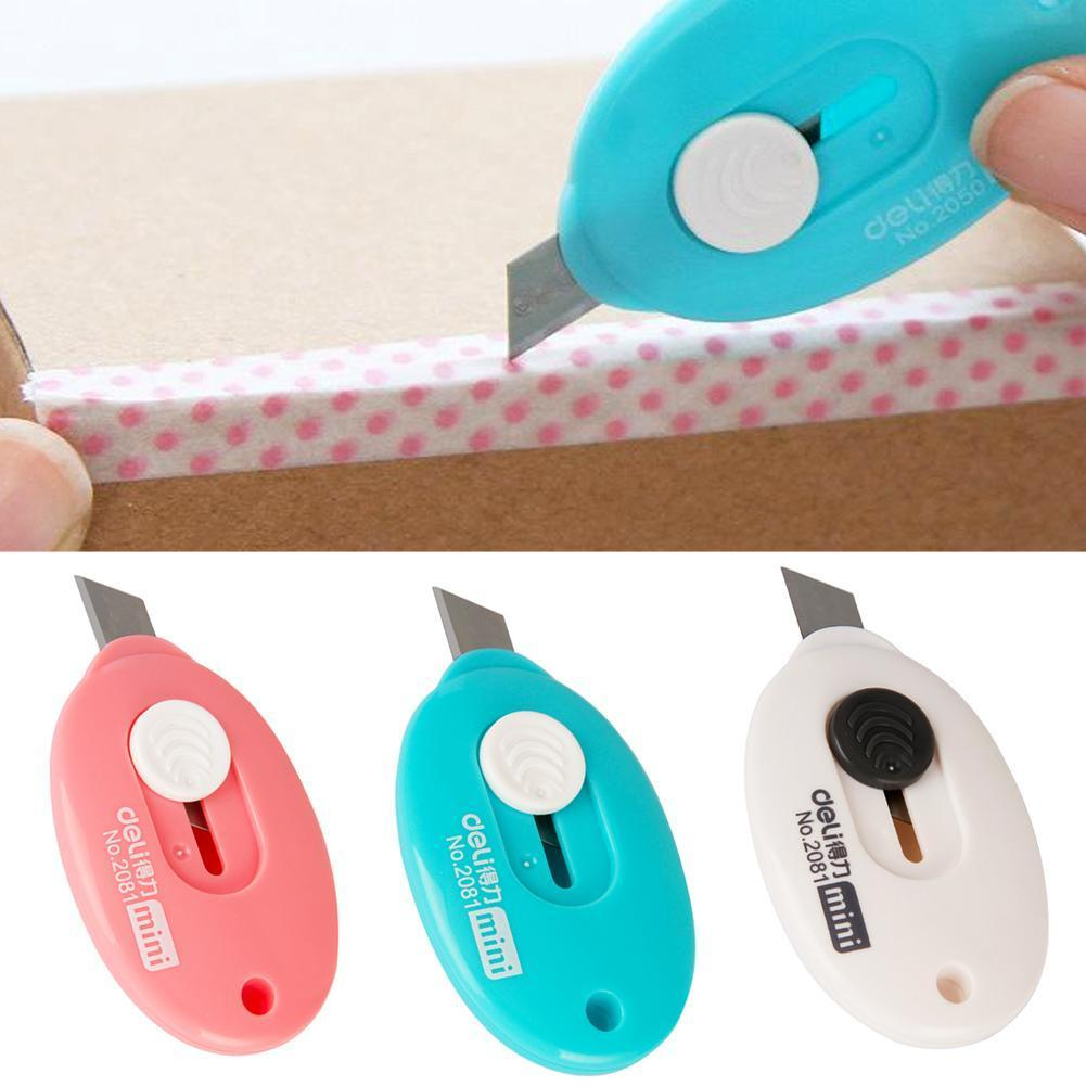 3pcs/lot Deli Mini Letter Opener Paper Knife Office Supplies And Knife Tools Utility Crafting Box Safety P4Y0