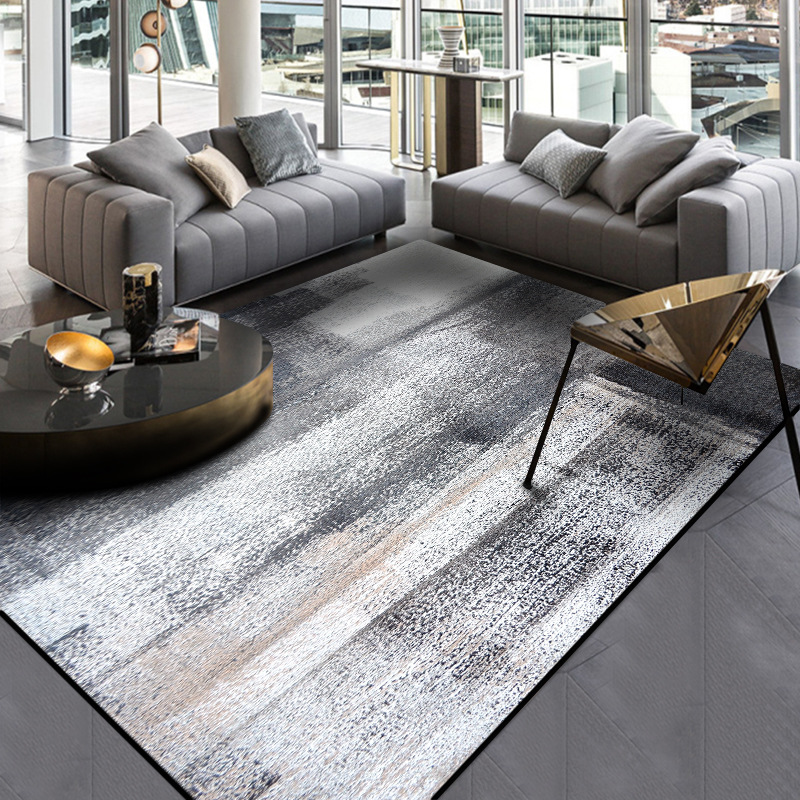 Nordic Geometric Carpets For Living Room Home Decor Non Slip Small Area Rug Modern Bedroom Hallway Abstract Black White Ink Mat Carpet Aliexpress