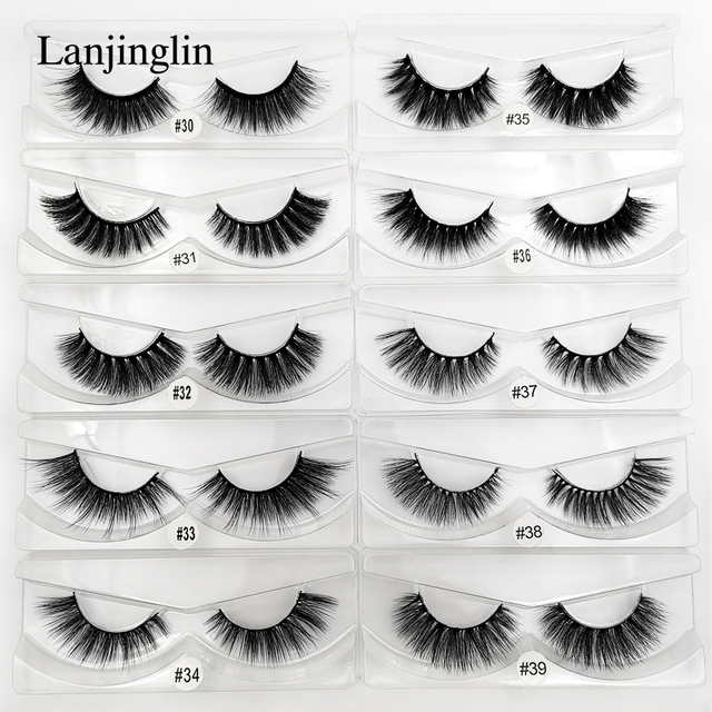 wholesale 3d mink false eyelashes 20/30/40/50/100 pairs fluffy wispy fake lashes natural long makeup lash extension in bulk 1
