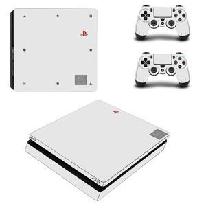 Image 3 - สีขาวสีเต็มรูปแบบPS4 Slimสติ๊กเกอร์Play Station 4สติกเกอร์ผิวสำหรับPlayStation 4 PS4 Slimคอนโซลและคอนโทรลเลอร์สกิน
