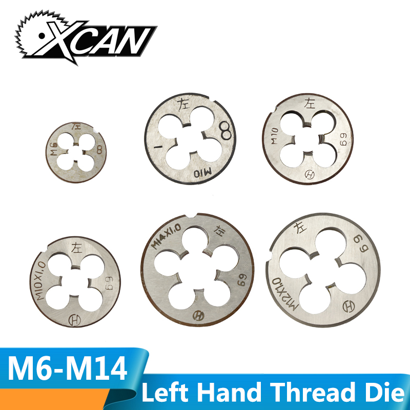 XCAN M6-M14 Metric Thread Die Hand Tapping Tools Left Hand Machine Screw Thread Die