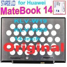 Orijinal 2160*1440 ekran Huawei MateBook 14 KLV-W19 KLV-W29 14 inç IPS LCD ekran dokunmatik ekran düzeneği