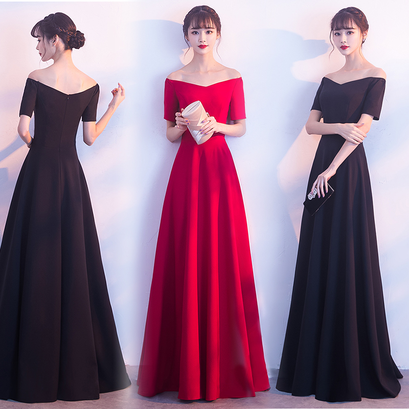 V-neck Burgundy Bridesmaid Dresses Junior Woman Dresses For Party And Wedding Vestido De Festa Longo Sexy Dress Prom Azul Royal