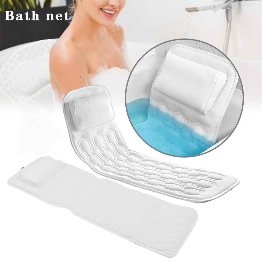スパバス枕クッションの吸引カップノンスリップ家庭風呂ベッドクッションパッド快適なネックバックサポート水着枕