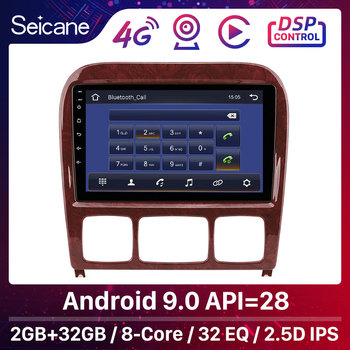 Seicane 2Din Car Multimedia Player GPS 9inch For 1998-2005 Mercedes Benz S Class W220 S280 S320 S350 S400 S430 S500 S600 S55 AMG image