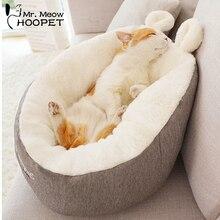 Hoopet кошка теплая корзина кровать домик для кошки питомник для собаки щенка домашний спальный питомник плюшевый удобный дом