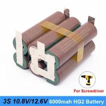 3S 12V 18650 hg2 3000mAh 20 amperów dla 12.6v śrubokręt baterii spawania lutowania taśmy 3S 3S2P bateria litowa 12.6v (dostosuj)
