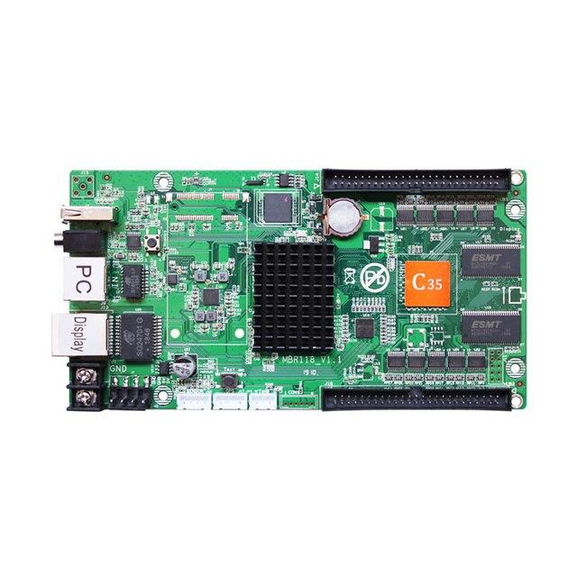 Huidu HD C35 HD C35 غير متزامن rgb شاشة عرض فيديو ليد بطاقة Huidu HD C35 كبير كامل اللون led بطاقة التحكم في العرض HD R501