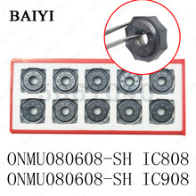Onmu080608 sh ic808/ic908 dupla face octogonal fresa insert onmu 080608 de alta qualidade cortador pesado cnc rosto moagem lâmina