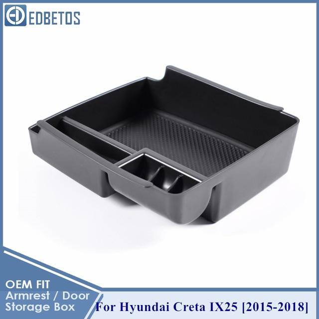 Pour Hyundai IX25 Creta accoudoir boîte de rangement Console centrale organisateur rangement rangement plateau de support conteneur boîte clins