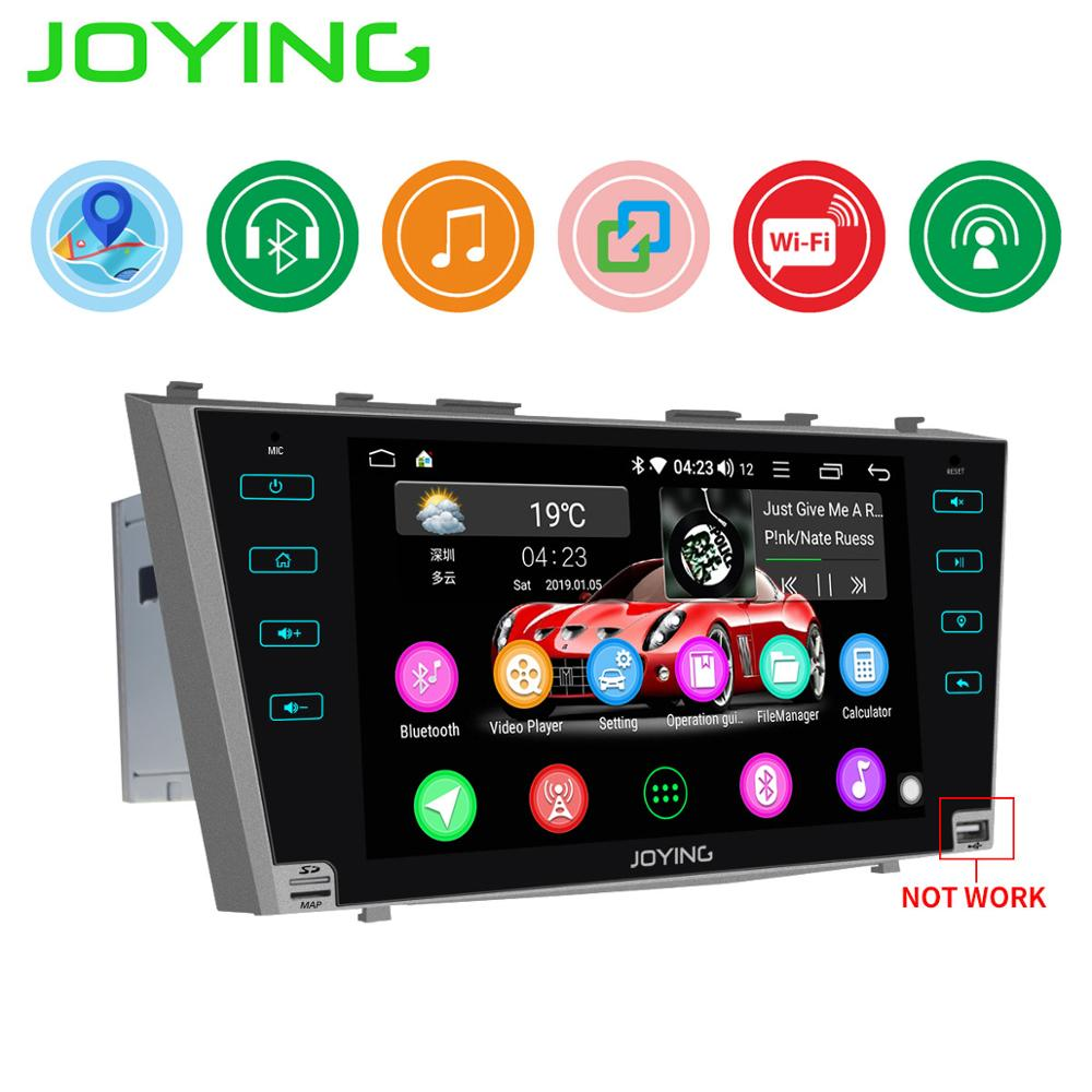 JOYING Android 8.1 2 din car radio stereo GPS 9 HD screen autoradio for For Toyota Camry Aurion 2006 2011 NO DVD player slot