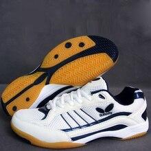Мужская и Женская Профессиональная Обувь для настольного тенниса; цвет золотистый, синий; дышащие мужские кроссовки для тренировок; женская обувь для занятий атлетикой; большие размеры