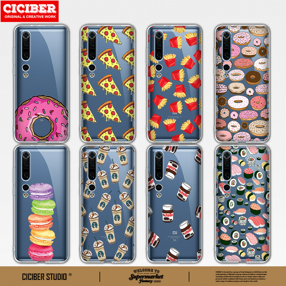 Cartoon Food TPU Phone Case For Xiaomi Redmi Note 9 7 6 8 Pro Cases Cover Mi Note10 9 8 9T Pro SE A3 A2 Lite F1 Soft Back Funda