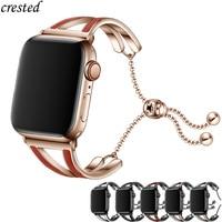 Frauen strap für Apple uhr band 40mm 44mm edelstahl metall gürtel correas armband iWatch band 38mm 42mm serie 3 4 5 se 6