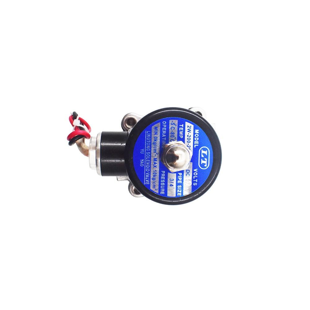 "3//4 /"" Npt Elektrisch Magnetventil 12VDC 12-Volt Dc Viton Edelstahl Ss"