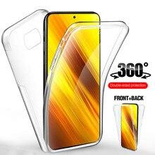 حافظة هاتف أمامية + خلفية 360 لهاتف شاومي بوكو X3 NFC حافظة ناعمة على شاومي Mi Poco X3 Pro Poko X 3 Pocox3 X3pro X3nfc كوكه fundas