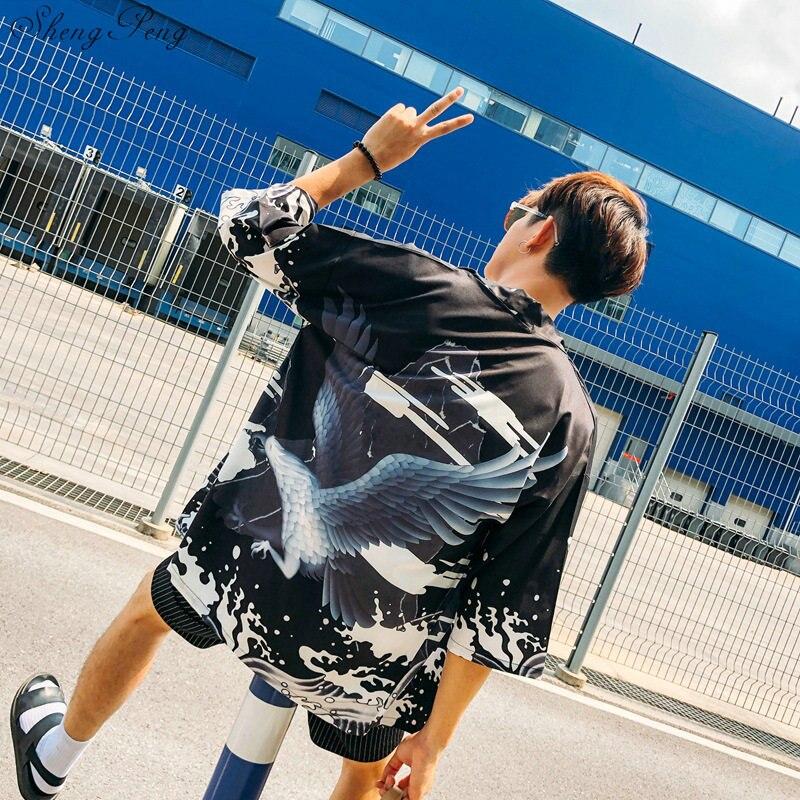 Yukata Haori Men Japanese Kimono Cardigan Men Samurai Costume Clothing Kimono Jacket Mens Kimono Shirt Yukata Haori V1643