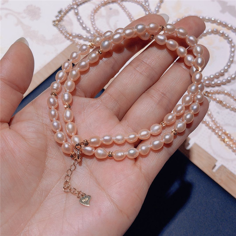 Natural freshwater pearl Irregular small pearl Clavicle chain sleek minimalist wild 925 sterling silver clasp Necklace CLOVER JEWELLERY