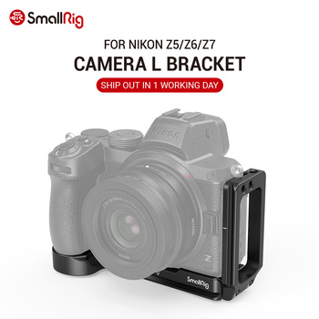 SmallRig Camera L Bracket for Nikon Z5/Z6/Z7 Camera w/ Arca-Type 1/4 Accessory Threads Quick Release L plate 2947 smallrig quick release l plate l bracket for canon eos 6d camera vertical shooting bracket w arca style base side plate 2408