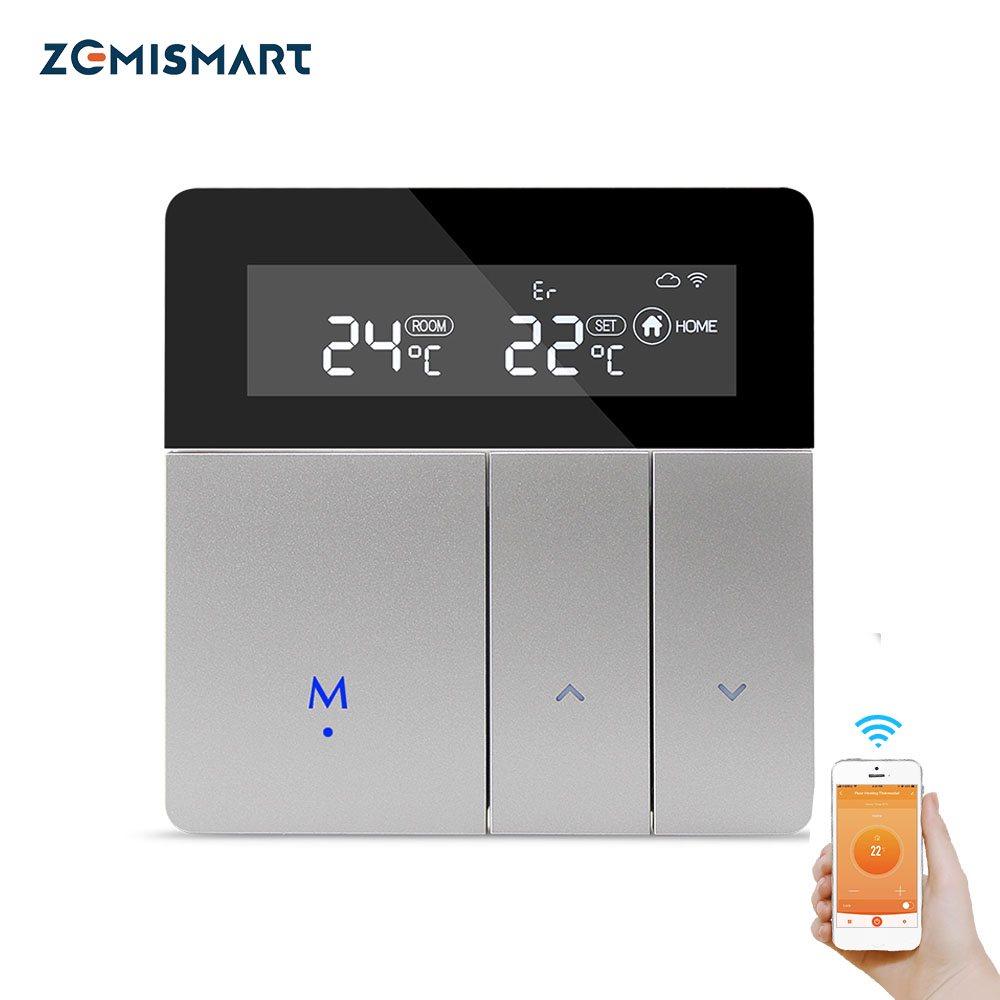 Water Floor Heating WiFi Thermostat Work With Alexa Google Home Smart WIFI Control External Temperature Controller