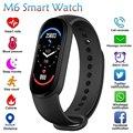 2021 смарт-браслет M6 часы фитнес-трекер Смарт-браслет пульсометр монитор кровяного давления смарт-браслет для телефонов XIaomi iOS Android