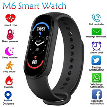 2021 M6 Smart Bracelet Watch Fitness Tracker Smartband Heart Rate Blood Pressure Monitor Smart Band For XIaomi iOS Phone