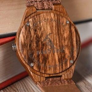 Image 5 - BOBO BIRD الساعات الخشبية الرجال النساء الساعات الفاخرة حزام من الجلد ساعة كوارتز