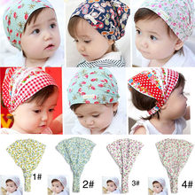 Spring Summer Autumn Baby Hat Cotton Girl Boy Cap Children Headbands Toddler Kids Headwear Hats Newborn Head Scarf Accessories(China)