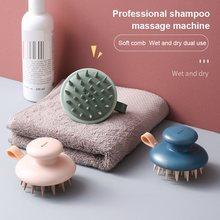 1 pçs multifuncional handheld massagem escova cabeça corpo couro cabeludo massagem escova pente de limpeza do cabelo pente cabeça massageador 4 cores novo
