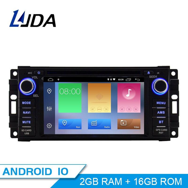 LJDA Android 10 автомобильный Радио Мультимедиа DVD GPS для Dodge RAM 1500 Chrysler Sebring Jeep Compass Commander Grand Cherokee Wrangler