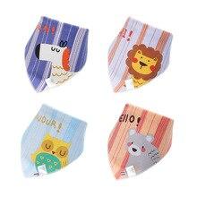 2 шт./упак. Детские хлопковые нагрудники для кормления детей грудного возраста нагрудники полотенца для новорожденных девочек и мальчиков шарф с треугольниками для малышей Детские банданы Животные прокладочная салфетка