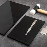 Punzonadora de cuero de alta calidad, tabla de nailon negro, agujero de corte, herramienta de estampado, Protector, estera hecha a mano, cuero